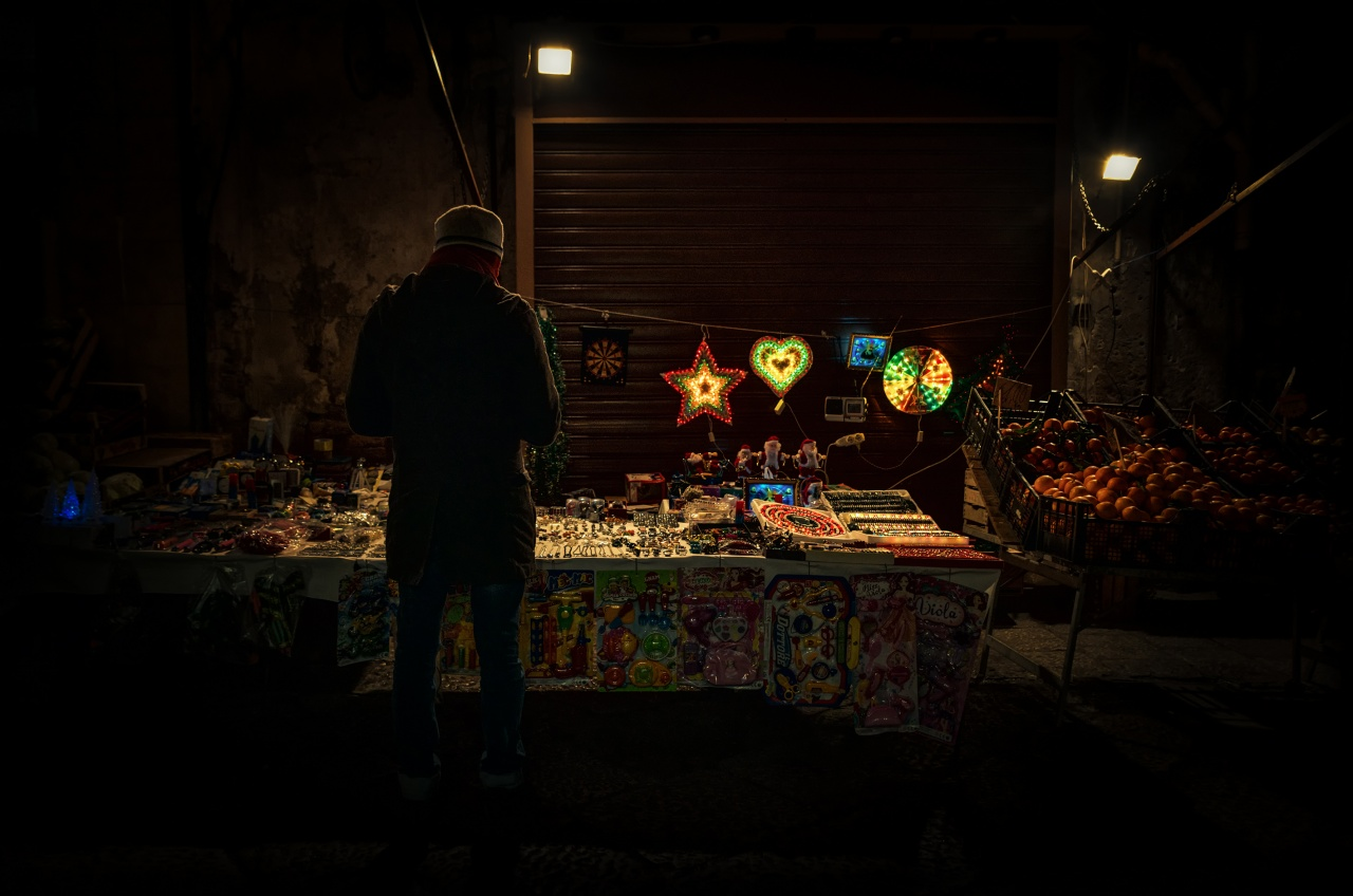Looking for some Xmas bright lights (Il Capo market)