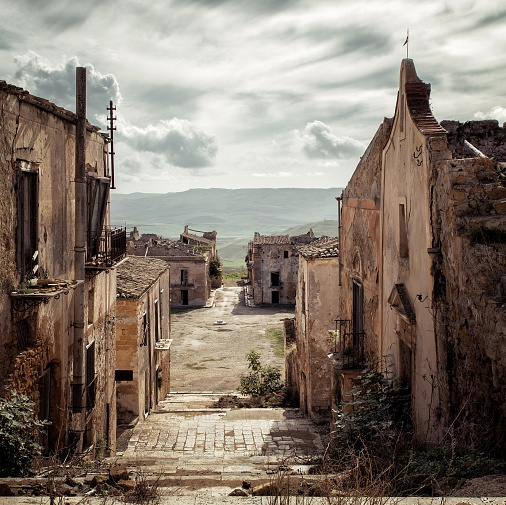 Tears of stone-The ghost town of Poggioreale (Trapani-2013)